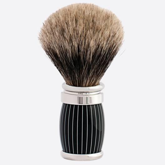 Brocha de afeitar Joris Puro Gris Europeo Acabado Retro Laca y Paladio