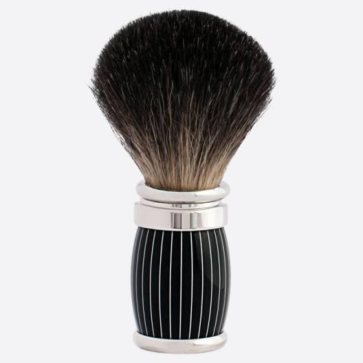 Brocha de afeitar Joris Negro Puro Acabado Retro Laca y Paladio