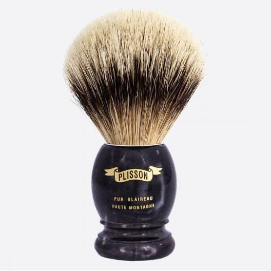Brocha de afeitar Cuerno Negro - Blanco Alta Montaña