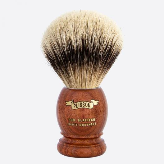 Brocha de afeitar original Palisandro de Santos - blanco alta montaña