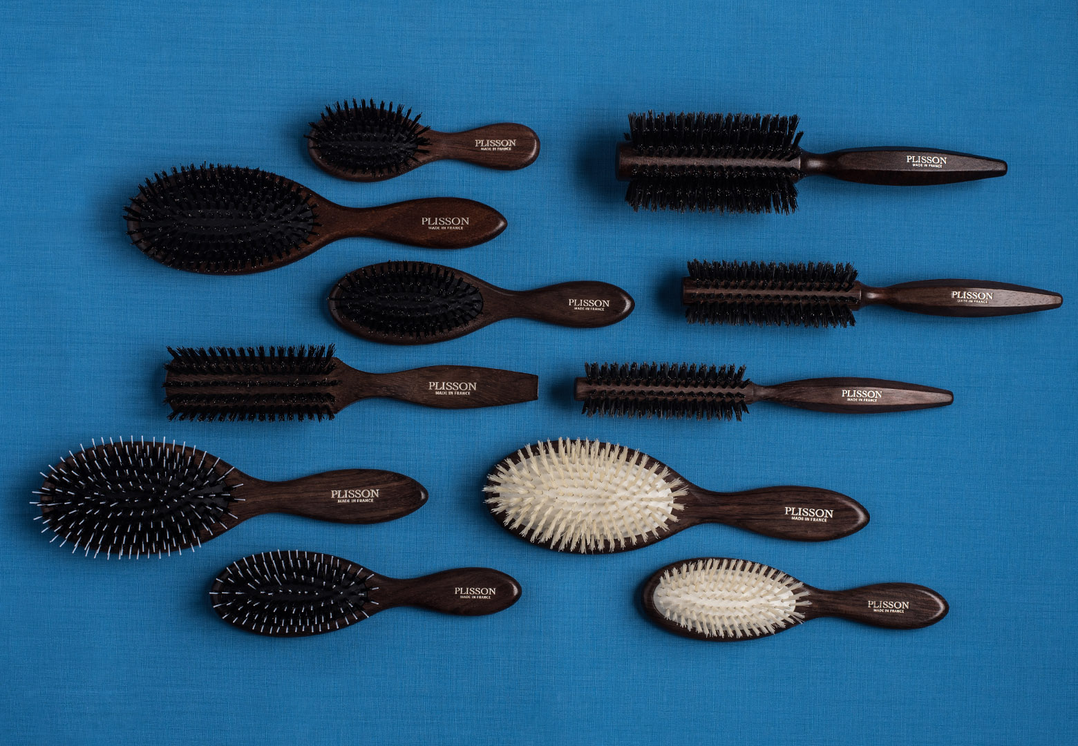Boar bristle hairbrushes